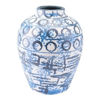 Vase Blue & White Ceramic
