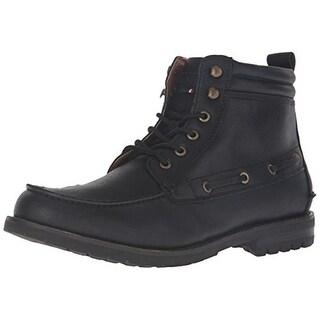 Tommy Hilfiger Mens Beaumont Winter Boots Faux Leather Lace Up - 7.5 medium (d)