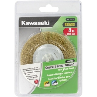 "Kawasaki� 4"" Coarse Crimped Brass Wire Wheel Brush - 841523"