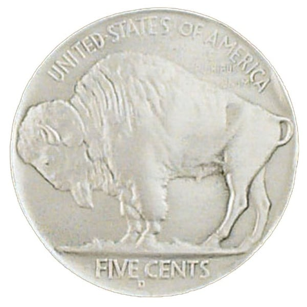 Buffalo Nickel Silver Tone Belt Buckle - One size