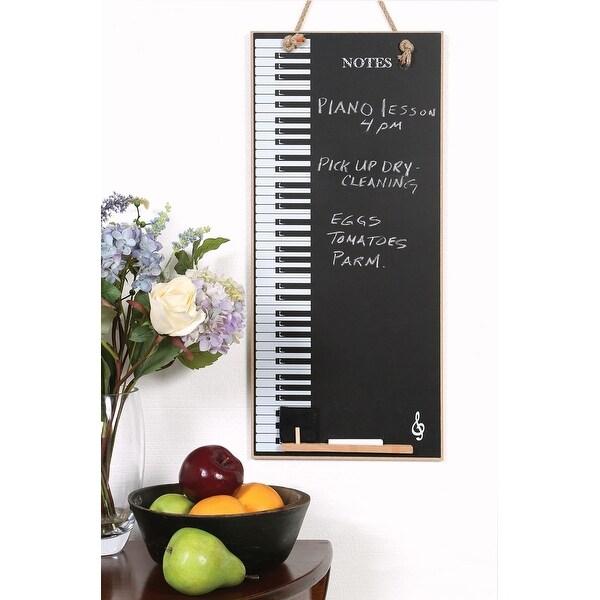Piano Keys Hanging Chalkboard Wall Decor
