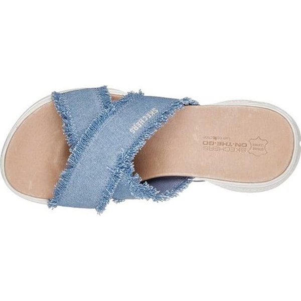 skechers denim sandals