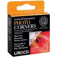 "Polypropylene Photo Mounting Corners 500/Pkg-Clear .625"""