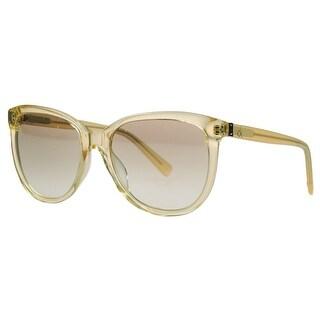 Calvin Klein CK4185/S 250 Yellow Clear Round Sunglasses - 55-18-135