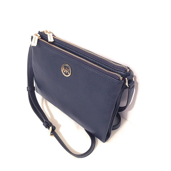 f19e66f99f23 Shop Michael Kors Fulton Crossbody In Navy - Free Shipping Today -  Overstock - 21156962