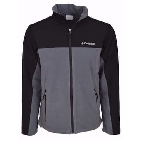 Columbia Men's Lookout Trail II Grey Fleece Windproof Zip Front Jacket XL