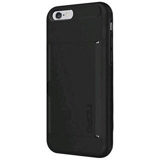 Incipio Stowaway Case Cover for Apple iPhone 6 / iPhone 6S (Black/Black) - IPH-1