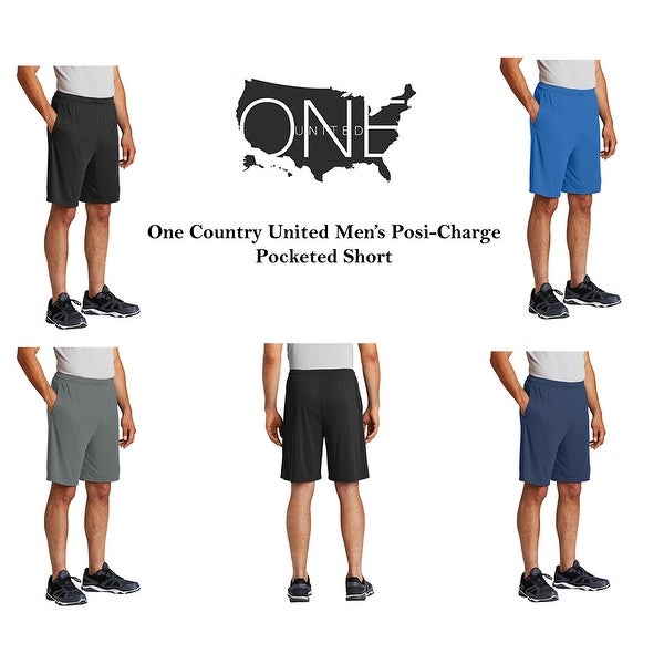 One Country United Men's Posi-Charge Short with Pockets. Opens flyout.