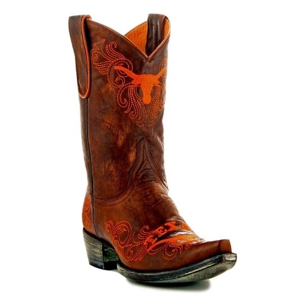 Gameday Boots Womens College Team Texas Longhorns Brass