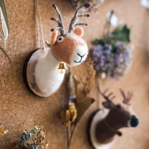 RusticReach Felt Deer Ornament