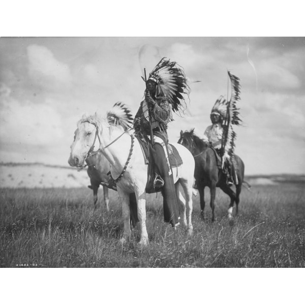 Sioux Indian Chiefs  - Curtis - Vintage Photo (Acrylic Wall Clock)