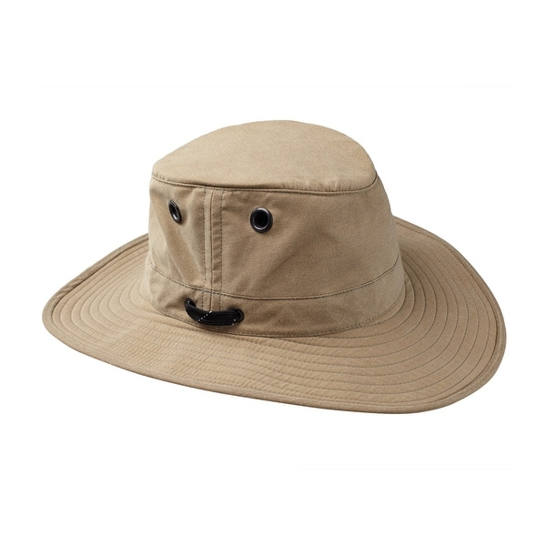 Tilley LWC55 100% Waxed Cotton UPF Protection Outback Hat - Khaki