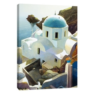 "PTM Images 9-105459  PTM Canvas Collection 10"" x 8"" - ""Postmark Santorini"" Giclee Buildings and Landmarks Art Print on Canvas"