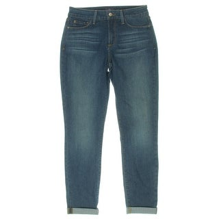 NYDJ Womens Anabelle Boyfriend Jeans Medium Wash Lift Tuck Technology