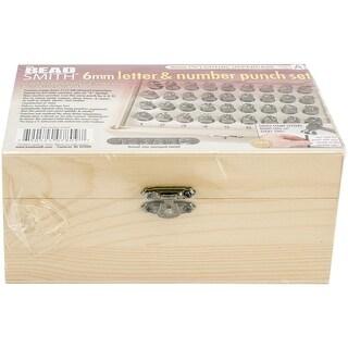 "Alphabet & Number Punch Set W/Box 32/Pkg-Gothic 6Mm .25"""