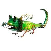 "16.5"" Solar LED Lights Green Lizard"