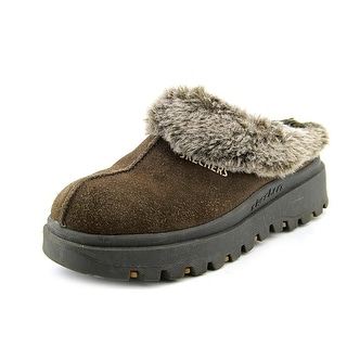 Skechers USA Shindigs - Fortress Women Round Toe Suede Brown Clogs