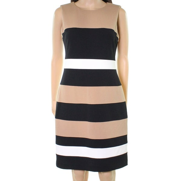5f8009ccb29cea Shop Tommy Hilfiger Black Womens Striped Colorblock Sheath Dress - Free  Shipping On Orders Over  45 - Overstock - 21705297