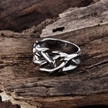 Vienna Jewelry Sword's Blade Stainless Steel Ring - Thumbnail 1