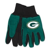 Green Bay Packers Adult Size Two Tone Gloves