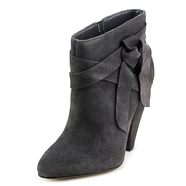 Nine West Acesso Women Pointed Toe Suede Gray Ankle Boot