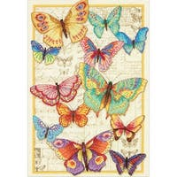 """Gold Collection Butterfly Beauty Counted Cross Stitch Kit-10""""X14"""" 14 Count"""