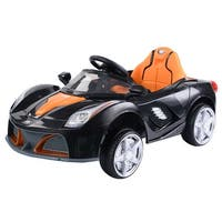 12V Battery Powered Kids Ride On Car RC Remote Control w/ LED Lights Music - Black