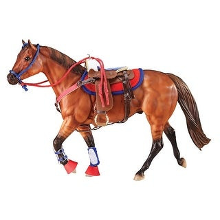 Breyer 1:9 Traditional Series Model Horse Set: Western Riding, Hot Colors - multi