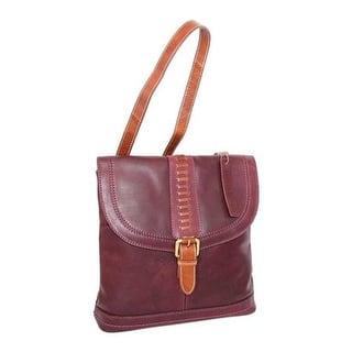 Nino Bossi Women S Elysia Leather Convertible Backpack Plum Us One Size