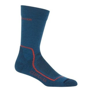 Icebreaker Men's Hike+ Lite Crew Prussian Blue/Midnight Navy/Chili Red