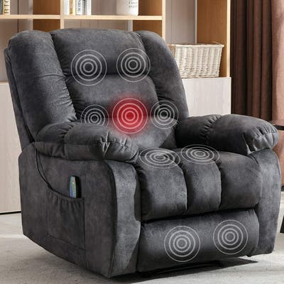 Big Massage and Manual Recliner Chair with Heat and Vibration