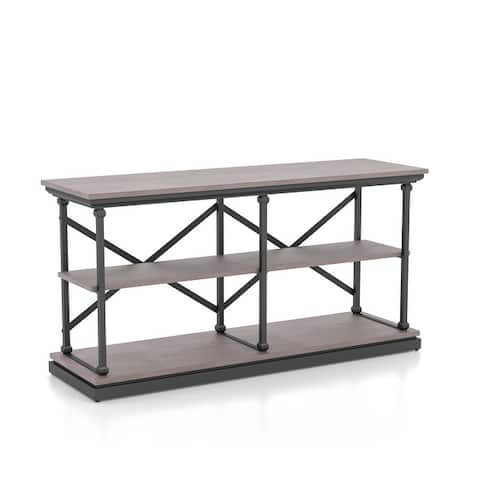 Furniture of America Marcin Transitional Shelf Base Console Table