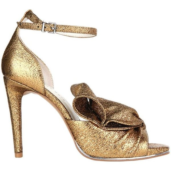 Shop Kenneth Cole New York Women s Blaine Stiletto Heel Sandal Gold Leather  - Free Shipping Today - Overstock - 19473652 91c3a48e2