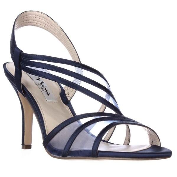 Nina Vitalia Slingback Dress Sandals, Navy