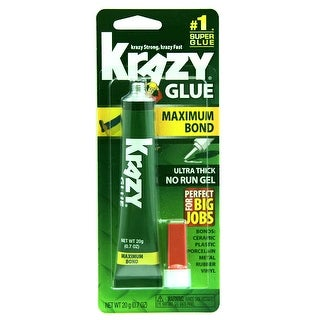Krazy Glue KG48148MR Maximum Bond Ultra Thick No Run Gel, .71 Oz