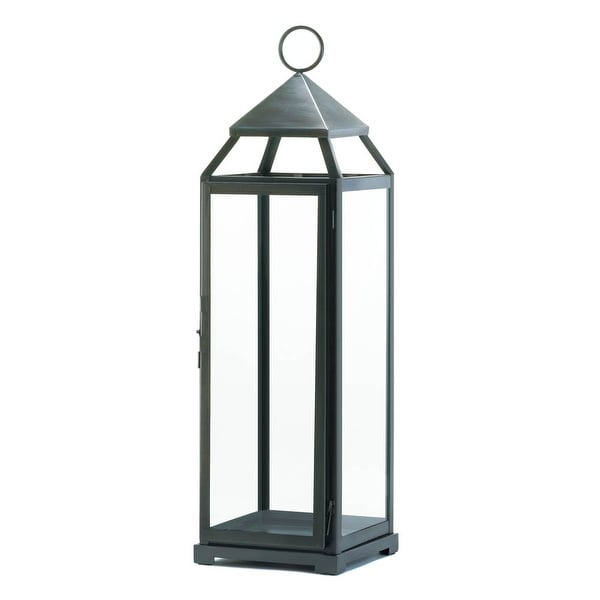 Novelty Tall Brushed Silver Lantern