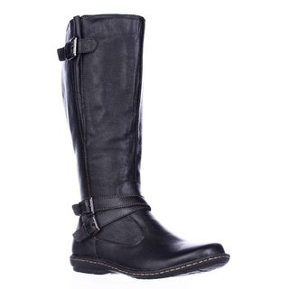 B.O.C. Born Concept Barbana Wide Calf Riding Boots - Black