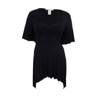 American Rag Women's Handkerchief Hem Tunic Top - 2x