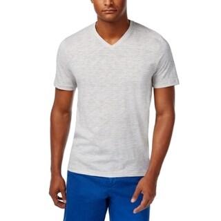 Michael Kors Rock Gray Mens Size XL Space Dye V-Neck Tee Shirt
