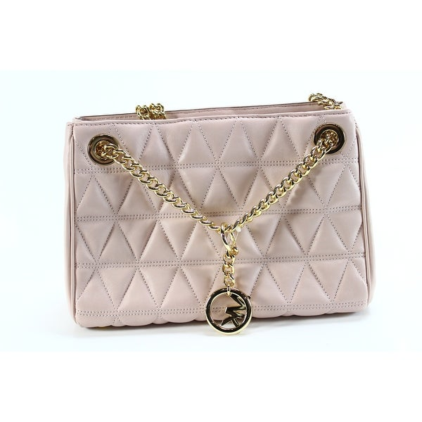 d0763bac4837 Shop Michael Kors NEW Soft Pink Leather Medium Scarlett Messenger ...