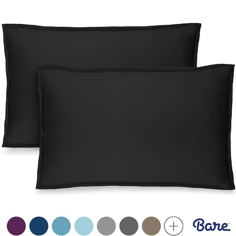 Bare Home Double Brushed Microfiber Pillow Shams Set of 2