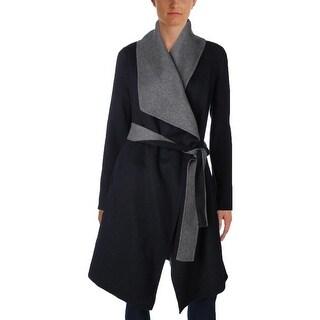 Diane Von Furstenberg Womens Coat Wool Open Front
