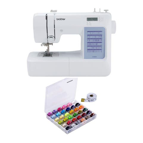 Brother CS5055 Computerized Sewing Machine with Bobbins & Threads Set