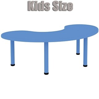 2xhome Adjustable Height Kids Table Half Moon Plastic Activity Metal Leg For Toddler Child Children Preschool Daycare School