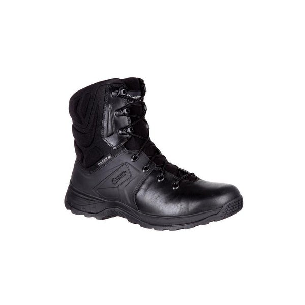 "Rocky Tactical Boots Mens Alpha Tac Waterproof 8"" Duty Black"