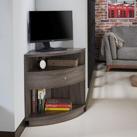 Furniture of America Aishe Urban Contemporary Corner Storage Cabinet