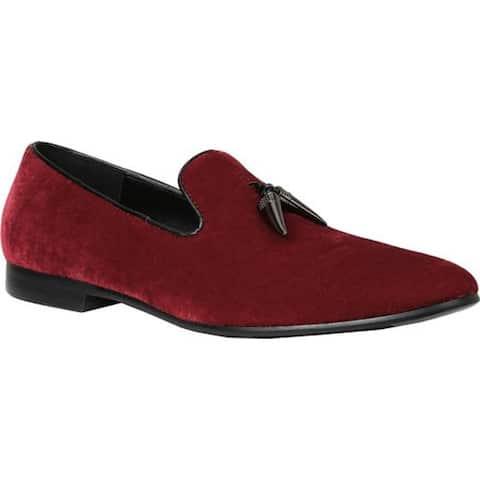 Giorgio Brutini Men's Cowell Smoking Slipper Red Velvet