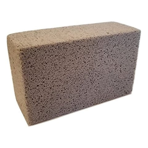 Grill Cleaning Block - Non-Slip Grip Natural Pumice Stone BBQ / Flat Top Griddle Cleaner Brick