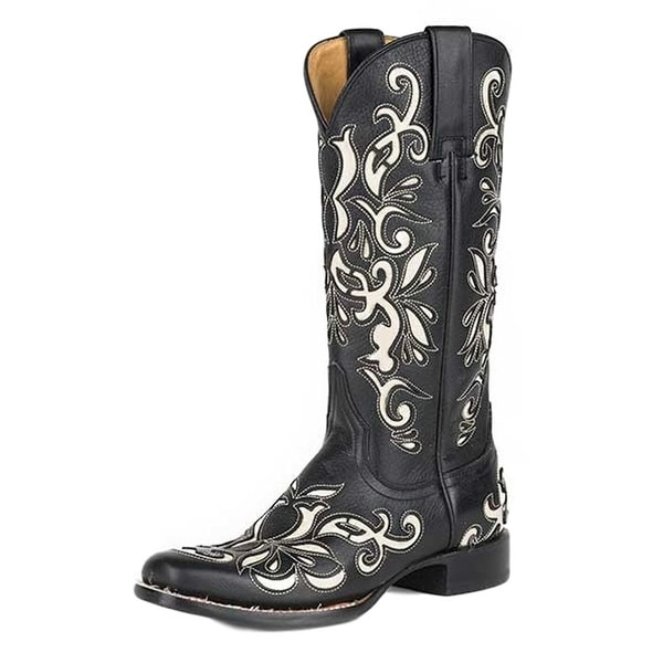 Stetson Western Boots Womens Leather Ivy Black