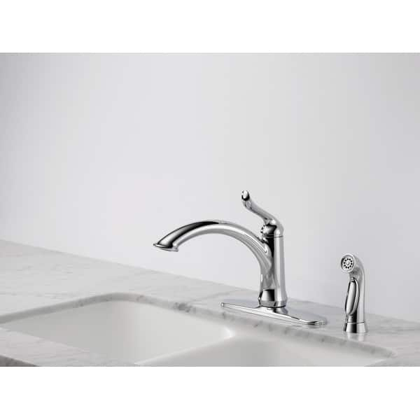 Shop Delta 4453-DST Linden Kitchen Faucet with Side Spray ...